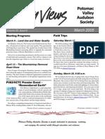 March 2005 Valley Views Newsletter Potomac Valley Audubon Society