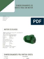 Dimensionamento de Componentes Para Um Motor
