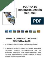 1.Lapoliticadescentralizacion Peru Pcm (1)