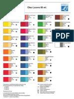 1- Carta de Colores Oleo 60 Ml