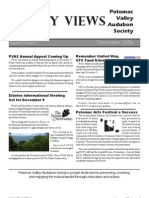 December 2006 Valley Views Newsletter Potomac Valley Audubon Society