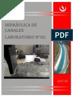 Laboratorio 2 Hidraulica de Canales
