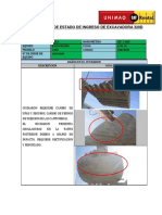 Informe de Estado de Ingreso de Excavadora 320d (03818109) Emp. Ossa - San Gaban