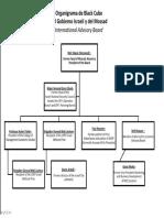 Organigrama de Black Cube del Gobierno Israeli y del Mossad