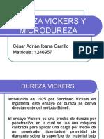 Dureza Vickers y Microdureza