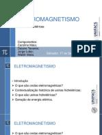 ELETROMAGNETISMO_apresentação de Trabalho sobre Usinas Hidráulicas