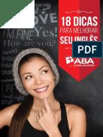 eBook 18 Dicas Para Melhorar Seu Ingles Aba.original