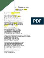 Letra Canción rap Rumano