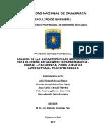 Analisis de La Carretera Pariamarca, Shudal, Cajamarca