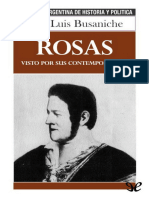 Busaniche, Jose Luis - Rosas Visto Por Sus Contemporaneos [39576] (r1.0)