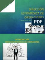 Direccion Estrategica de Operaciones