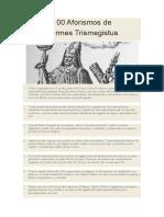 100 Aforismos de Hermes Trismegistus