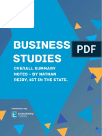 HSC Business Studies Summary Notes by Nathan Reidy
