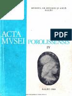 04. Acta Mvsei Porolissensis, IV (1980)-Zalau