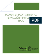 Manual de Mantenimiento y Disposicion Final trituradora