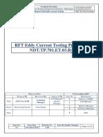 292751693 Eddy Current RFT Procedure
