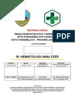 01. IK Hematologi Analyzer