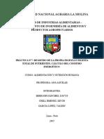 Informe 7 Registro de La Propia Ingesta e Ingesta Total de Nutrientes. Cálculo Del Consumo Energético