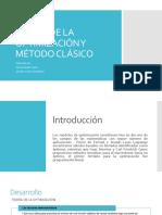 Teoría de La Optimización y Método Clásico
