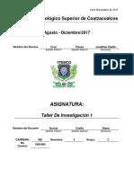 Portafolio de Taller de Investigacion