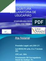 Ata Notarial Usucapião