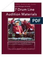CMB Drum Line Audition Packet 2017