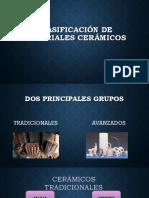Clasificación de Materiales Cerámicos