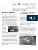 2008 Annual Report Potomac Valley Audubon Society