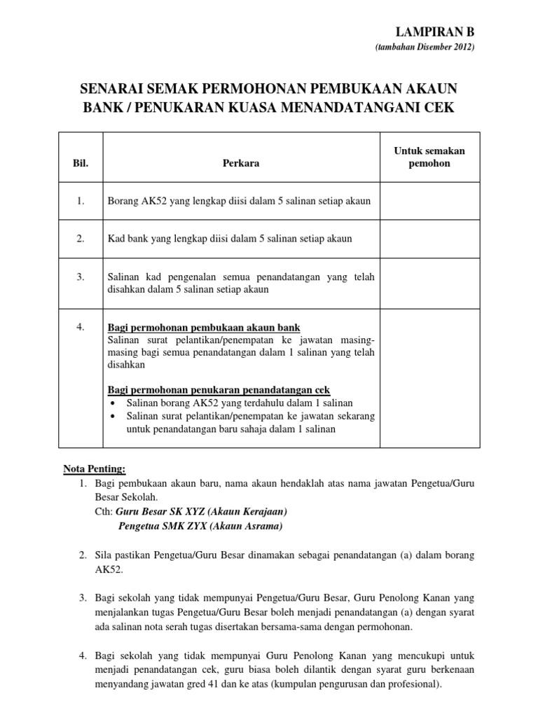 Senarai Semak Ak52 Pindaan Disember 2012 Docx