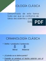 CRIMINOLOGÍA CLÁSICA