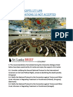 SRI LANKA ACCEPTS 177 UPR RECOMMENDATIONS 53 NOT ACCEPTED.docx