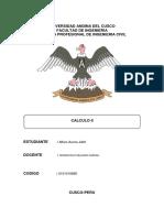 Aplicación de Cálculo en La Ingenieria Civil