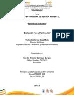Evalución Fase I Planificación Individual Curso 358020A 363 Grupo 358020 38 Gabriel Manrique
