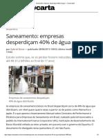Saneamento_ Empresas Desperdiçam 40% de Água — CartaCapital