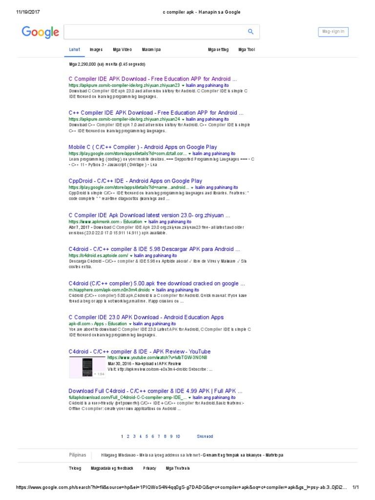 c Compiler Apk - Hanapin Sa Google   Google Play   Android