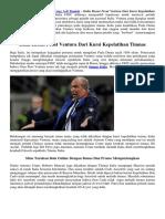 Italia Resmi Pecat Ventura Dari Kursi Kepelatihan Timnas