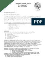 pre-algebra management plan