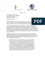 MRFF / CFI Joint Demand Letter to Department of Defense