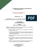 Ley de Mecanismos Alternos Para La Solución de Controversias Del Estado de Nuevo León