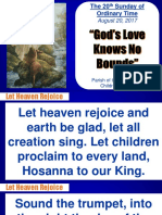 2oth Sunday in Ordinary Time