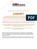 201705 Cabaret Auditions