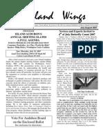 July 2007 Island Wings Newsletter Vashon-Maury Island Audubon