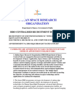 Isrosc Application Exam Details