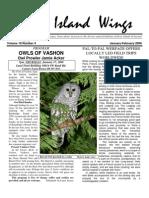 January-February 2008 Island Wings Newsletter Vashon-Maury Island Audubon