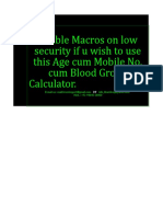 Age Calculator With Mobile No Blood Groups Prediction