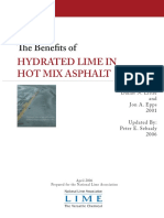 Th e Benefi Ts of Hydrated Lime in Hot Mix Asphalt