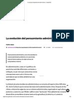 La Evolución Del Pensamiento Administrativo • GestioPolis
