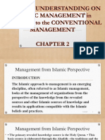 Islamic Mangement vs Conventional Management