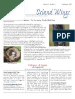 July-August 2010 Wings Newsletter Vashon-Maury Island Audubon