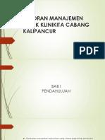 Laporan Manajemen Klinik Klinikita Cabang Kalipancur